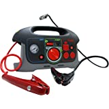 UPG 84039 Adventure Power Black/RedAll-In-One Jump-Start System with Built-In Air Compressor and Power Inverter