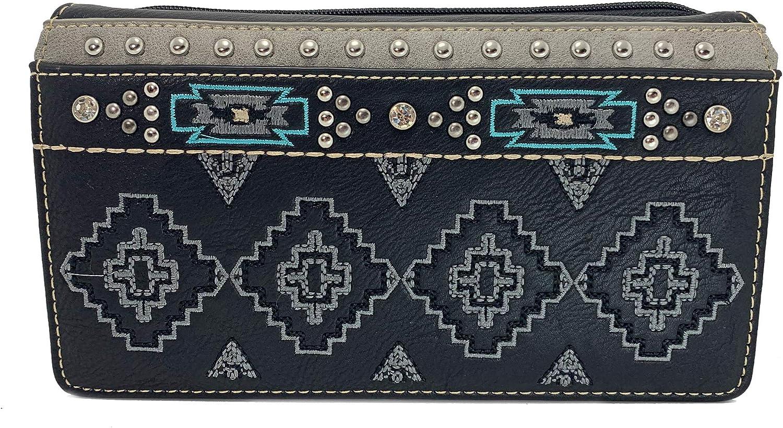 Black Montana West Secretary Style Aztec Wallet
