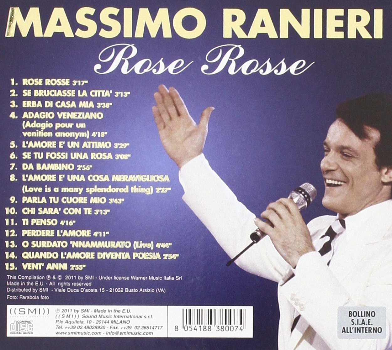 SCARICARE MP3 ROSE ROSSE PER TE RANIERI MASSIMO