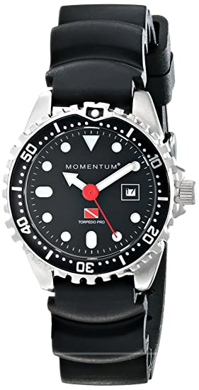 Amazon.com: Womens Sports Watch | Torpedo Pro Dive Watch by Momentum | Stainless Steel Watches for Women | Analog Watch with Japanese Movement | Water ...