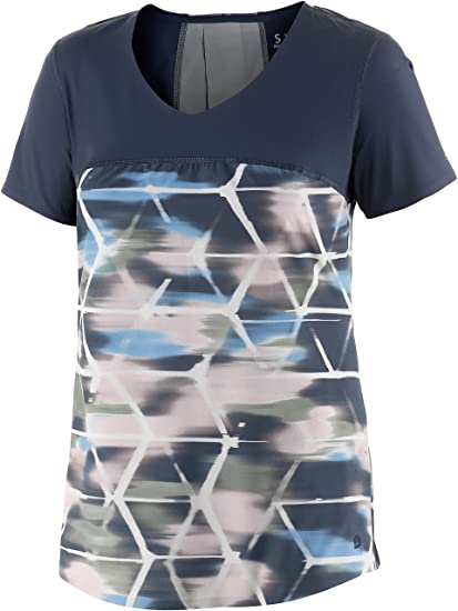 43c7dc4c9eb11 Brooks Women s PureProject S S II Midnight Watercolor Midnight T-Shirt XS (