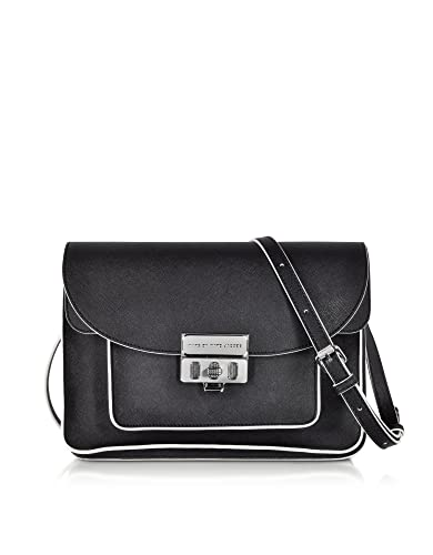 1288c6467 Marc by Marc Jacobs Designer Handbags Lip Lock Black Messenger Bag:  Amazon.co.uk: Shoes & Bags