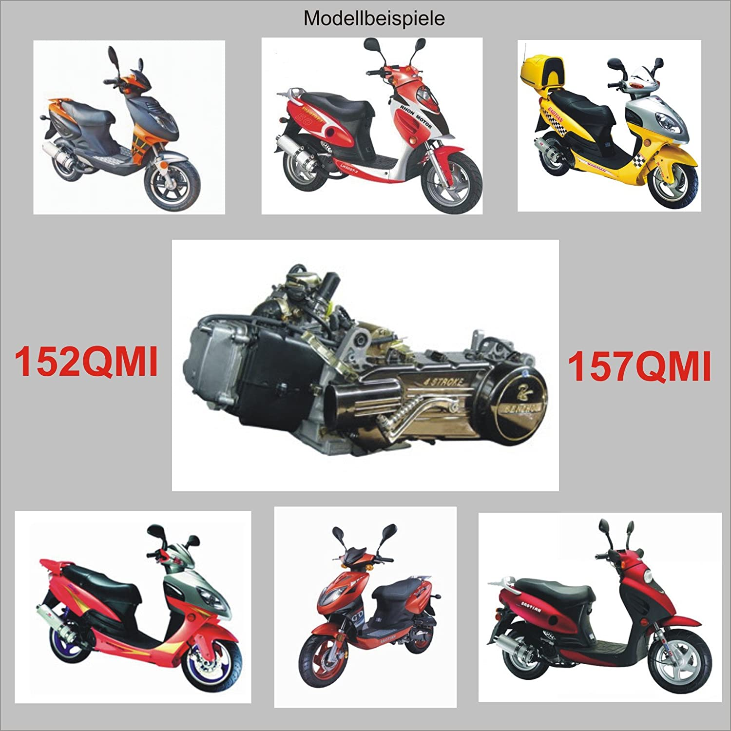 gy6-ersatzteile Spiegel Set Links /& RECHTS M8 z.b BAOTIAN BENZHOU YIYING Flex TECH Peugeot QINGQI REX RS AGM GMX HYOSUNG WANGYE KREIDLER ZNEN China Roller etc.