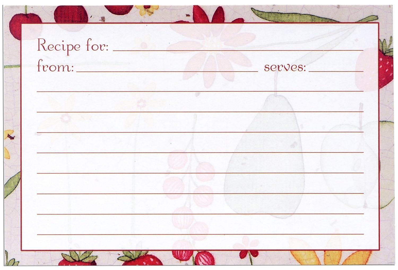 Meadowsweet Kitchens Recipe Card Set-Fruit N Flowers RC/P 25FF