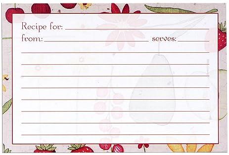 Meadowsweet Kitchens Recipe Card Set   Fruit U0027n Flowers