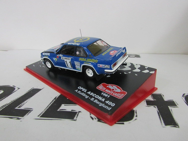 Réplica de coche Opel Ascona 400 - Rallye Monte Carlo 1981 - (1:43) - Azul: Amazon.es: Juguetes y juegos