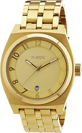 Nixon A325502-00 - Reloj analógico de Cuarzo para Mujer con Correa de Acero Inoxidable, Color Dorado: Nixon: Amazon.es: Relojes
