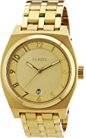 Nixon Men's A325-502 Stainless Steel with Gold Dial Watch