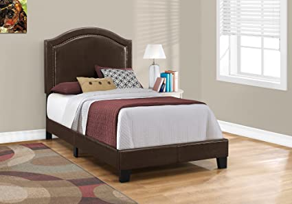 amazon com monarch specialties i 5938t bed size leather look with