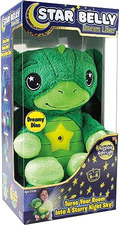 Ontel Star Belly Dream Lites, Stuffed Animal Night Light, Dreamy Green Dino