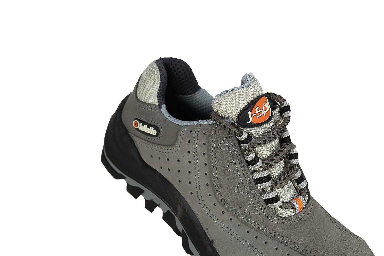 jallatte jalor litio zapato de seguridad Seguridad Guantes Guantes de trabajo  plana S1P, color Gris, talla 43: Amazon.es: Zapatos y complementos