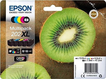 Epson Original 202xl Tinte Kiwi Xp 6000 Xp 6005 Xp 6100 Xp 6105 Amazon Dash Replenishment Fähig Multipack 5 Farbig Bürobedarf Schreibwaren