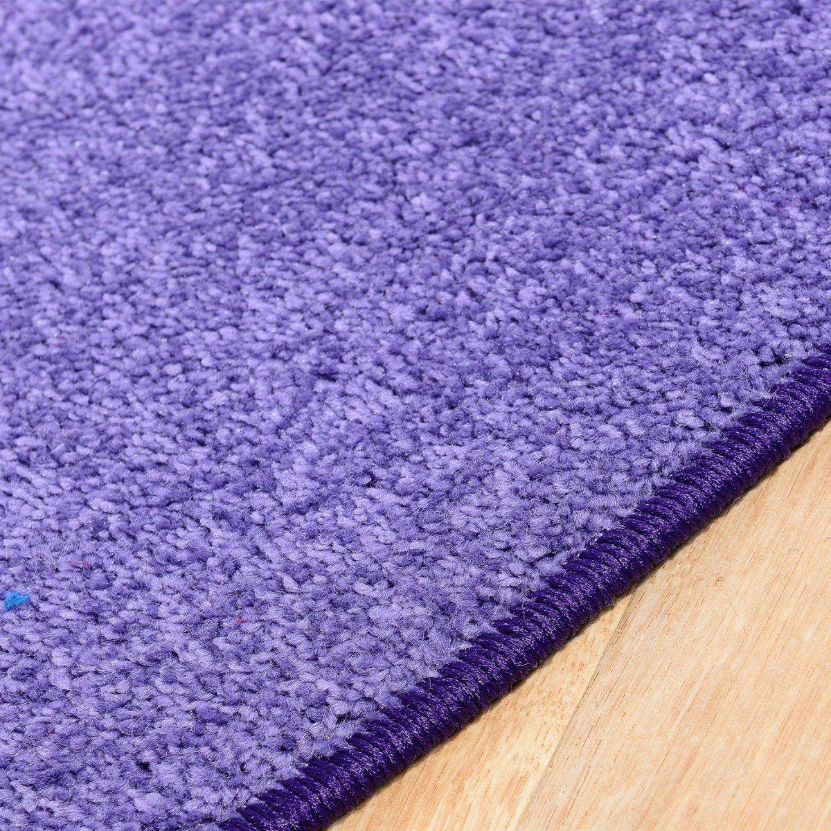 Havatex Teppich Kräusel Velour Velour Velour Burbon rund - 16 moderne sowie klassische Farben   schadstoffgeprüft pflegeleicht & robust   ideal für Wohnzimmer, Farbe Rot, Größe 180 cm rund B00FQ109D6 Teppiche d14943