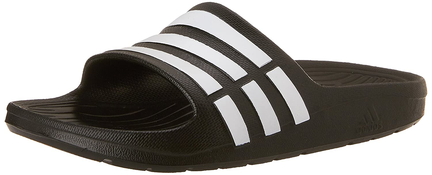 7359c3d4eb45 Adidas Unisex Duramo Slide K Black and White Sandals and Floaters - 11 Kids  UK India (29 EU)  Amazon.in  Shoes   Handbags