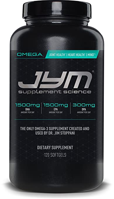 Omega JYM Fish Oil Capsules - Omega 3 Fatty acids, EPA, DHA and DPA | JYM Supplement Science | Omega, 120 Count