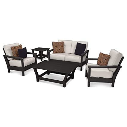 Fantastic Amazon Com Polywood Ivy Terrace Artisan 5 Piece Deep Onthecornerstone Fun Painted Chair Ideas Images Onthecornerstoneorg