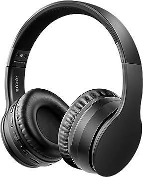 Oferta amazon: Ifecco Bluetooth5.0 Estéreo Auriculares Música Sobre-oído Sonido de alta fidelidad, Bluetooth Banda para la cabeza plegable con micrófono y cable de audio para Apple iPhone, PC(Negro 1)