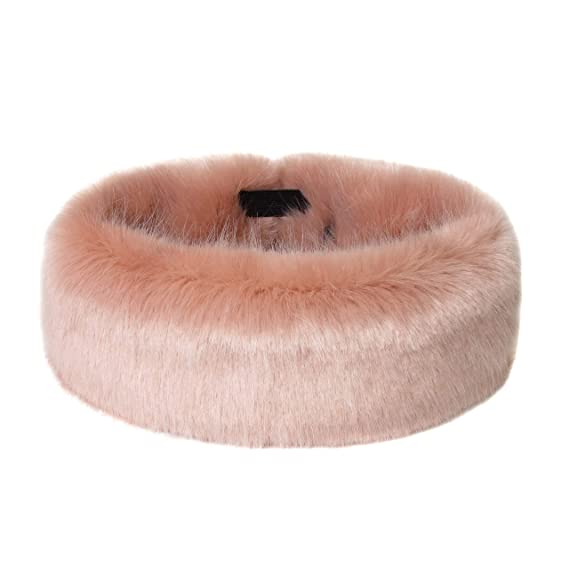c714eb92 Helen Moore Faux Fur Huff Headband (Dusky): Amazon.co.uk: Clothing
