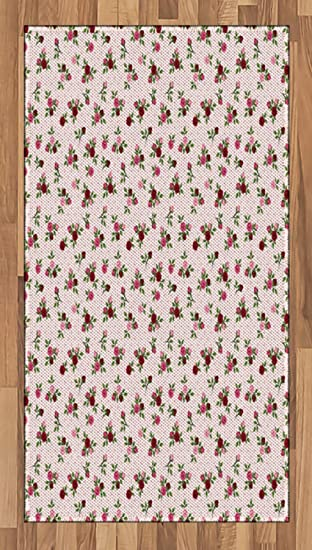 Amazon Com Ambesonne Floral Area Rug Romantic Rose Bouquet On