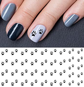 Amazon Bear Paw Water Slide Nail Art Decals Salon Quality