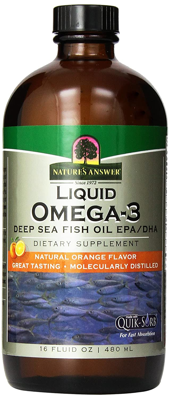 海外直送品Nature's Answer Liquid Omega 3 Deep Sea Fish Oil Epa/dha, 16 Oz B000IH7NKK