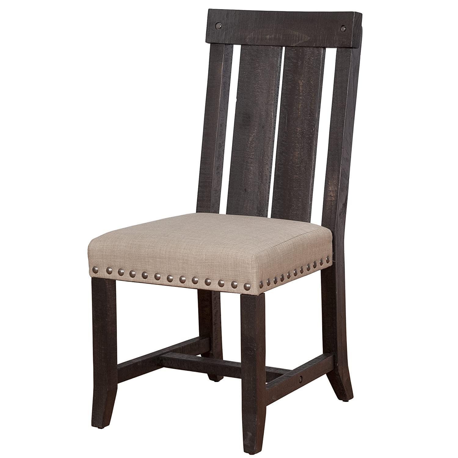 Modus Furniture 7YC966W Yosemite Solid Wood Dining Chair - Black Pine - 2-Pack