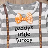 Newborn Baby Boy Girl Daddy's Little Turkey Romper