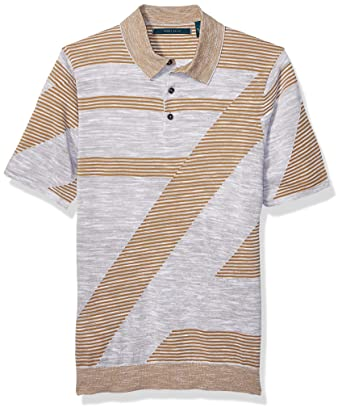 Perry Ellis Hombre 4CHG7202 Manga Corta Camisa Polo: Amazon.es ...