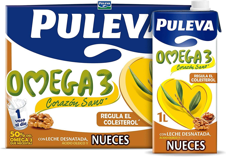 Puleva Omega 3 Leche con Nueces - Pack 6 x 1Lt: Amazon.es: Alimentación y bebidas