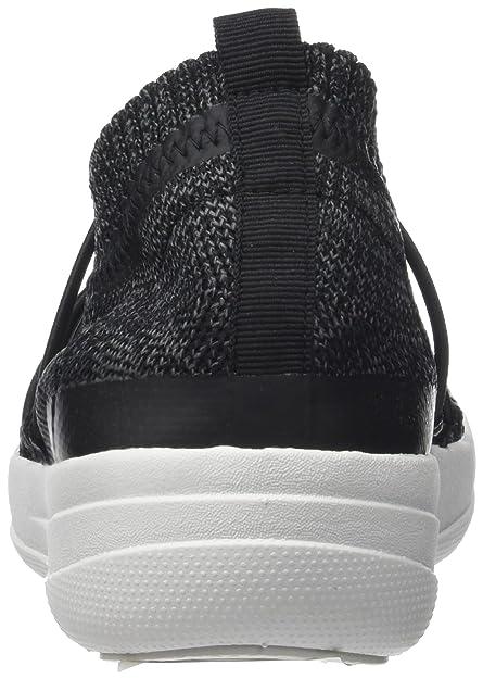 Uberknit Slip-ON Ghillie Sneakers, Zapatillas sin Cordones para Mujer, Multicolor (Black/Soft Grey 546), 37 EU FitFlop