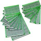 Lot de 16double face Prototype Plaque perforée Platine Circuit PCB Board universelle pour DIY, différentes tailles