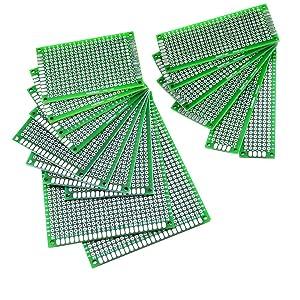 Misc. FACILLA/® Set 5pcs Prototyping PCB Circuit Board Stripboard 90x70mm