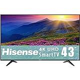 "Hisense 43"" Smart TV 4K Televisor con Sistema Roku Pantalla Ultra HD LED, Cuenta con Ethernet, Wi-Fi, Puertos HDMI, USB, AV y APPS como Netflix, Youtube 43R6E (Renewed)"