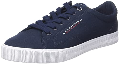 London, Sneakers Basses Homme, Bleu (Sailor), 45 (EU)Pepe Jeans London