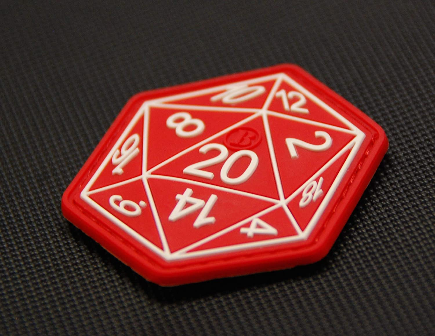 71d6bf7e Amazon.com: BritKitUSA Dungeons and Dragons Die D20 3D PVC Morale Patch  Hook Backing D&D Hook Backing: Sports & Outdoors