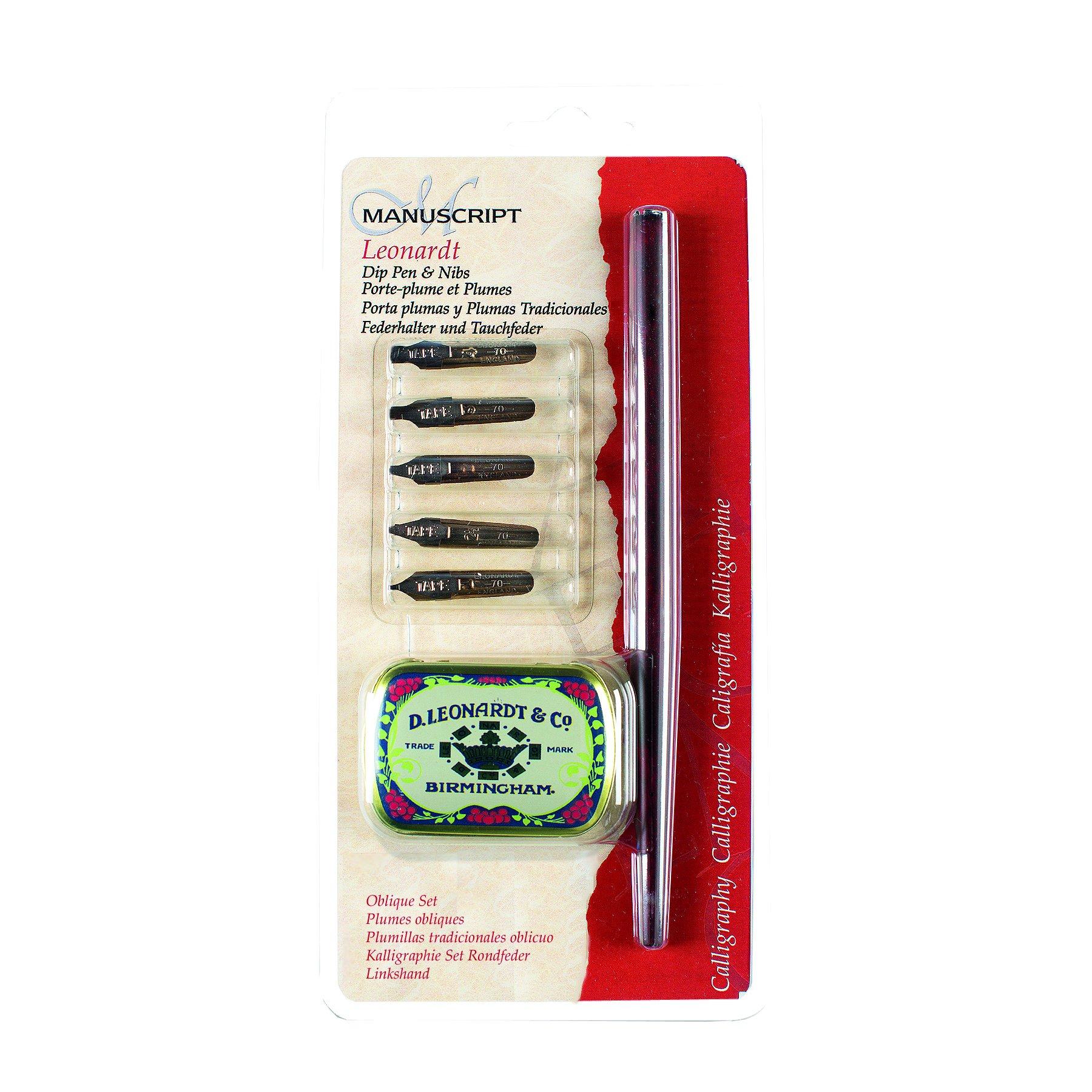 Manuscript Pen MDP2076 Oblique Dip Set