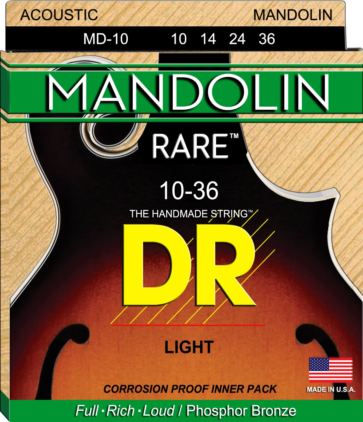DR Strings Mandolin: 10, 14, 24, 36 DR Strings Mandolin: 10 DR Music MD-10
