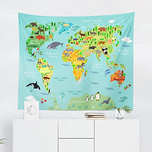 Amazon.com: Kids World Map Tapestry - Maps Global Nursery Boy ... on palace map, statue map, desk map, plant map, go to the map, green map, inverted map, plate map, atlas map, trench map, floor map, border map, step map, world map, englewood map, home map, large map, glass map, glider map, magnetic map,