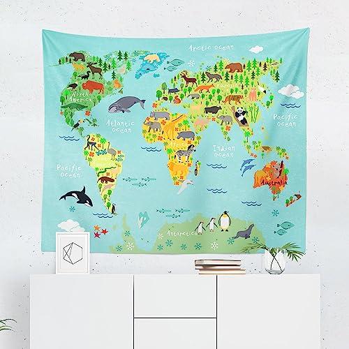 Amazon.com: Kids World Map Tapestry - Maps Global Nursery Boy ... on keystone world map, large world map, hack world map, 2 color world map, auburn world map, pillars world map, bending world map, lafayette world map, dover world map, highlands world map, repositionable world map, weathered world map, angle world map, go to the world map, old world map, eden world map, johnson world map, girl world map, thompson world map, ridges world map,