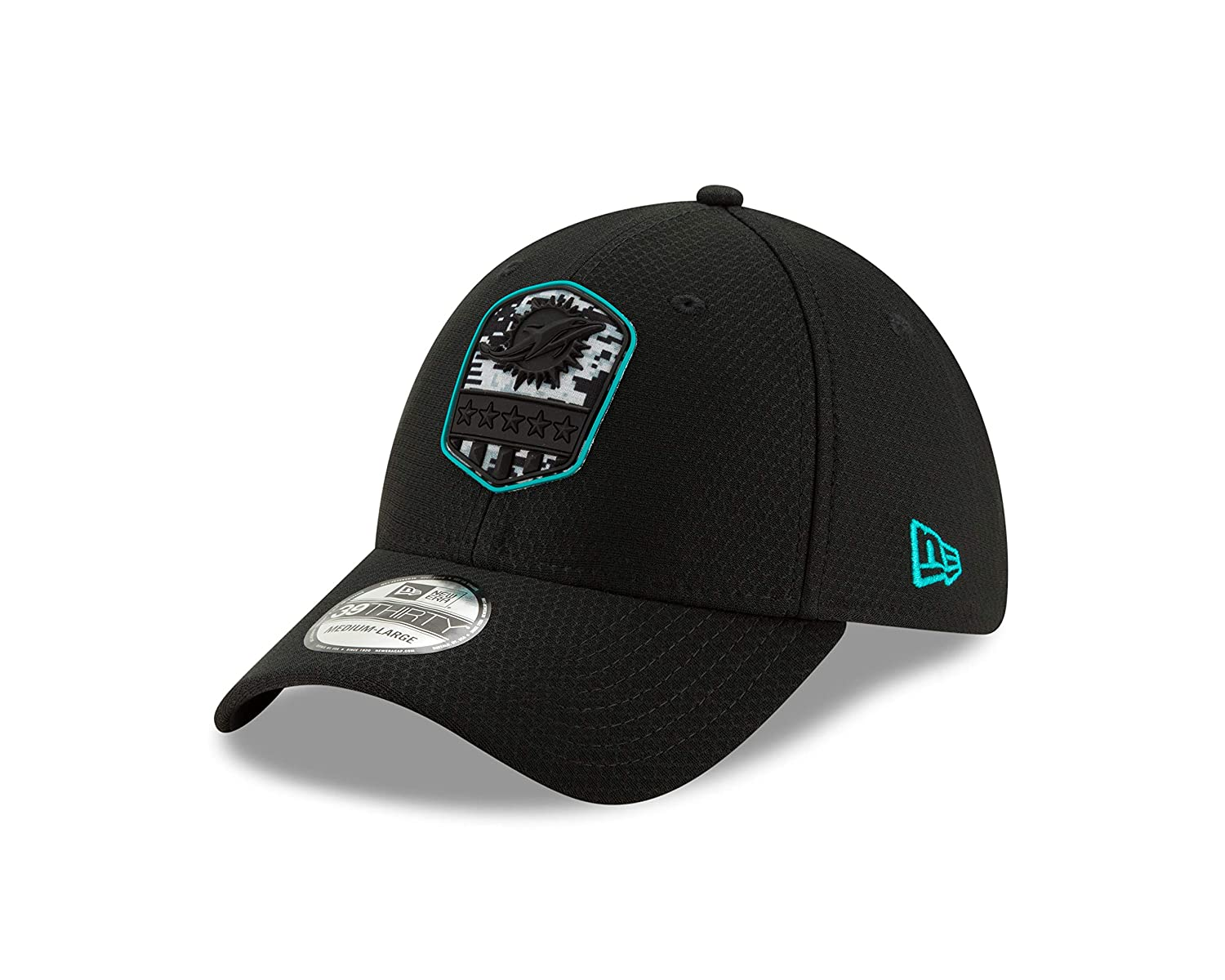 New Era Miami Dolphins 39thirty Stretch Cap On Field 2019 Salute to Service