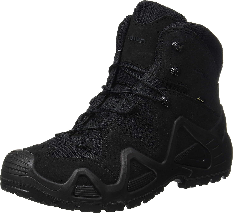 Lowa Mens Zephyr Gore-Tex Mid Task Force Military Hiking Leather Boots (12 US, Black) 81VrsaJfH6LSL1500_