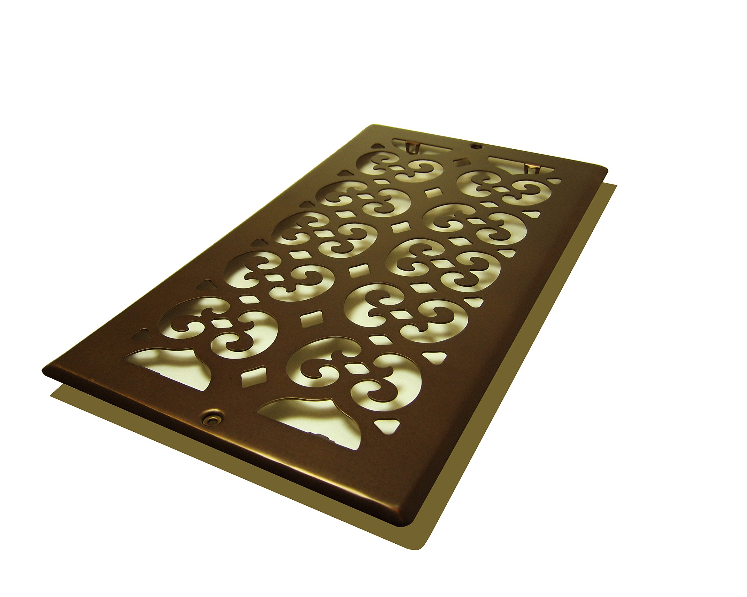 Decor Grates SP612R-RB Scroll Plated Return, 6-Inch by 12-Inch, Rubbed Bronze