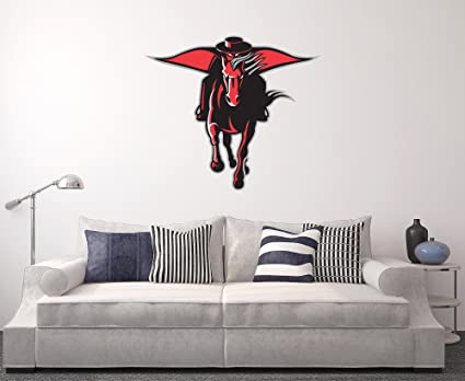 Amazon.com: Texas Tech Red Raiders Wall Decal Home Decor Art NCAA ...