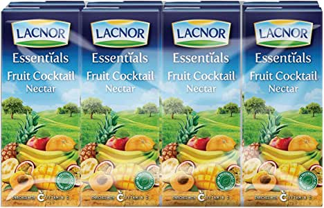 Lacnor Essentials Mixed Fruit Juice - 180 ml x 8