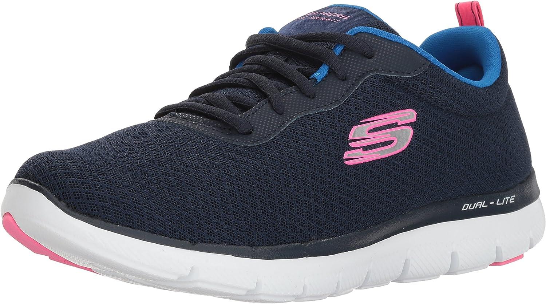 Skechers Flex Appeal 2.0 12775w nvy, Sneakers Basses Femme