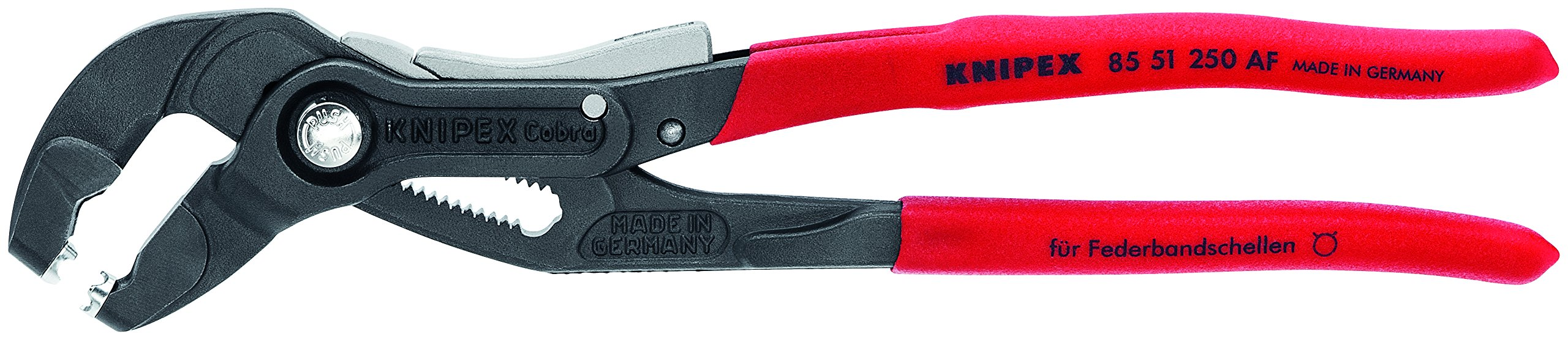 Knipex Tools 85 51 250 AF 10'' Hose Clamp Pliers with Locking Device by KNIPEX Tools