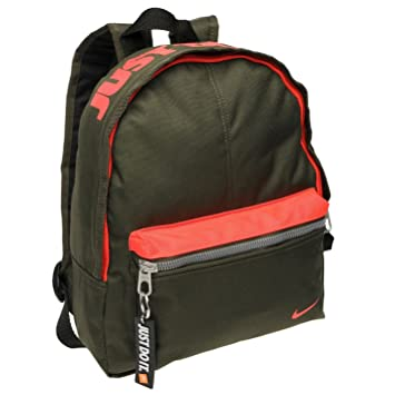 98023eb1bdd Nike Mini Base Backpack Khaki Red Rucksack Sports Bag Gymbag Kitbag H  30cm