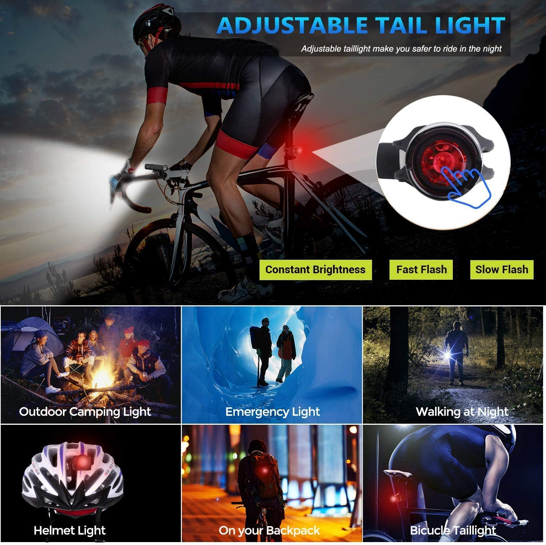 711light Veloc/ímetro LED para bicicleta con pantalla LCD recargable por USB od/ómetro para montar en bicicleta nocturna IP65 resistente al agua