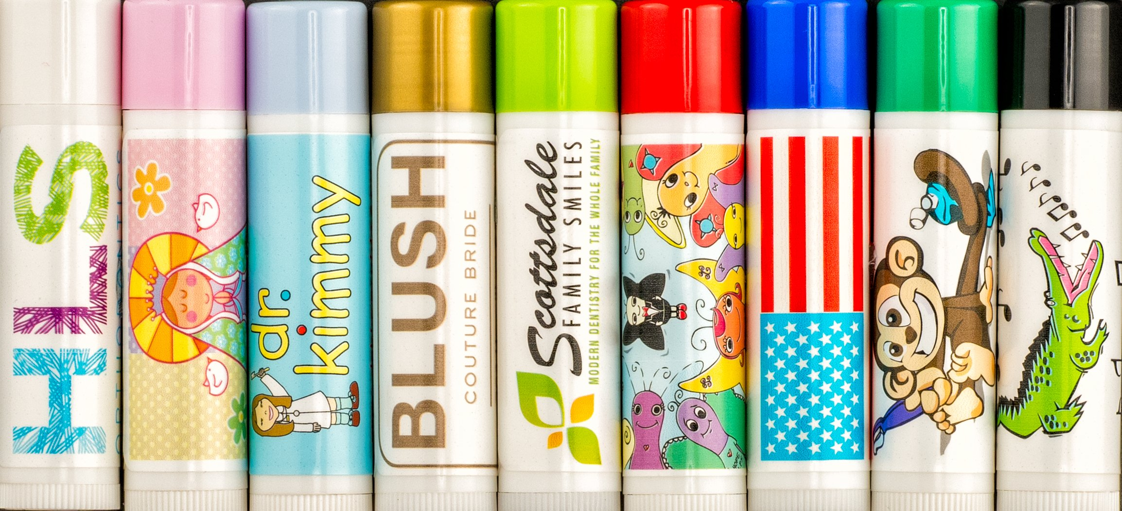 Custom Label Lip Balm (Quantity 100 Tubes) $0.49 Cents Each/Promotional Product/Bulk Order/Free Art Work email Sales@lipbalmexpress.com with Questions