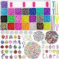 behave® 6460 XXL Loombanden Box Set - Starterset Box met 22 kleuren + loombord + haken en vele extra's - eco-vriendelijk…
